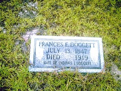 my great great grandmother's gravestone