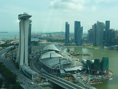 Marina Bay Sands and CBD from the Singapore Flyer (kfcatles) Tags: flyer singapore asia southeastasia casino equator mbs skypark omb capitalcity thesail orq singaporeflyer marinabaysands mbfc marinabayfinancialcentre