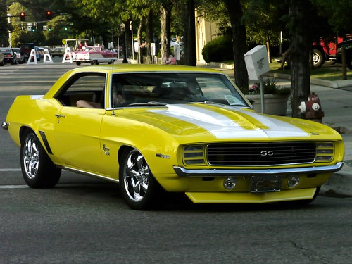 Yellow 1969 Camaro