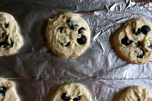 Blueberry Black and White Cookies