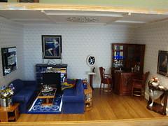 Art Deco Apartment+Living room David & Carol Huffman of Davesattic Miniatures