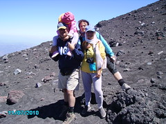 On her first visit to Etna's summit craters, the volcanologist's daughter fell asleep on his shoulders (etnaboris) Tags: italy mountain nature landscape volcano climb italia natura crater summit sicily etna montagna eruption sicilia paesaggio excursion vulcano cima cratere salita escursione eruzione sommit