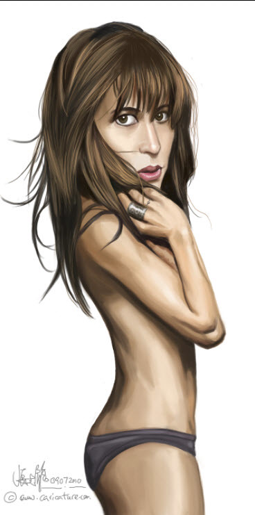 digital sketch of Sophie Marceau - 5 small