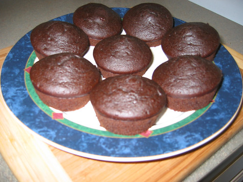 Unfrosted Mocha Cupcakes