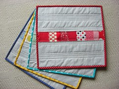 Placemats (flossyblossy) Tags: stripe patchwork placemats