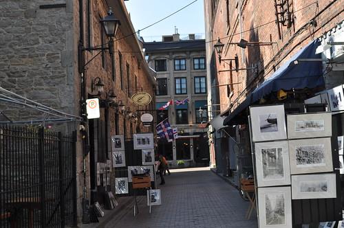 Callejones de los alrededores de la Plaza Jacques Cartier
