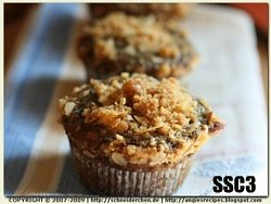 ssc3- Blueberry (Ice Cream) Banana Streusel Muffins