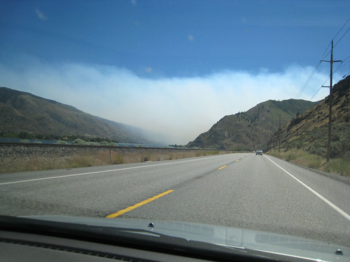Swakane Fire from Hwy 97A