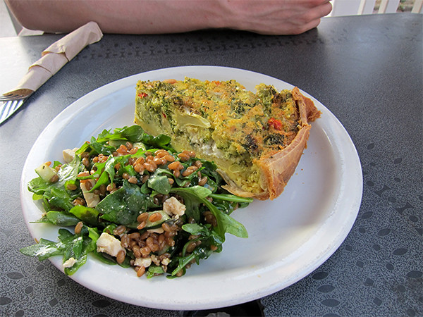 Jealous of Dave's delicious quiche!