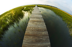 Dock (ClayStein) Tags: sunset contrast photoshop island photography high fishing south fisheye charleston carolina seabrook cs3 65mm opteka
