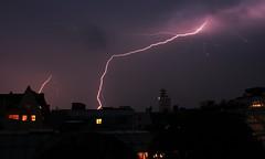 Blitzefeld 1 (EisFrei) Tags: sky clouds germany deutschland flash himmel wolken bolt thunderstorm lightning blitz gewitter bielefeld thunderbolt blitze
