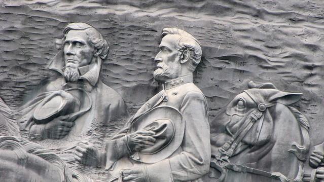 Jefferson Davis and Robert E Lee