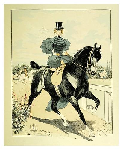 023-Trote a la inglesa 1835-Le chic à cheval histoire pittoresque de l'équitation 1891- Louis Vallet