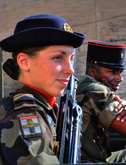 French Army Women female french soldier army