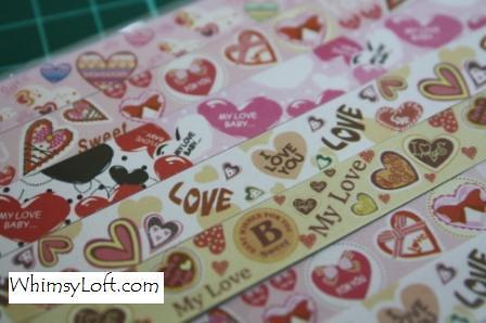 Sticker Tape Love Cafe