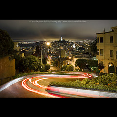 Buckle up! (flyingdutchee) Tags: sanfrancisco california street longexposure car night cityscape hill bayarea lighttrails crooked steep lombardstreet flyingdutchee canonefs1755mmf28isusm canoneos50d