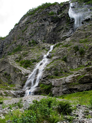 A Waterfall Up Close - Nærøyfjord, Norway