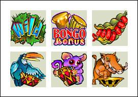 free Bush Telegraph slot game symbols