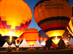balloons at night (kk7k) Tags: blue ohio red black color yellow interestingness cool colorful awesome balloon explore hotairballoon frontpage explored middletownohio
