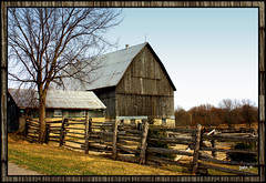 County Barn (gabi-h) Tags: ontario barn fence farm rustic princeedwardcounty farmyard barnboard gabih