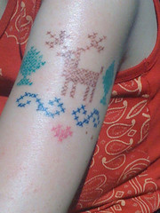 Cross-stitch tattoo (benjibot) Tags: tattoo crossstitch