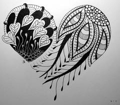Indian Summer (Jo in NZ) Tags: pen ink drawing line doodle zentangle nzjo zendoodle