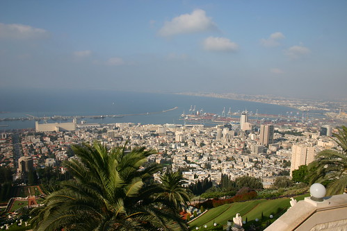 View from the Baha'i Gardens on Mount Carmel