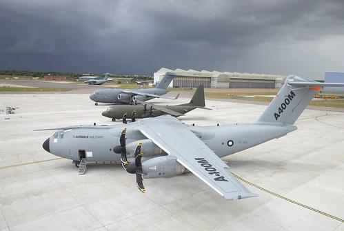 A400M, C130J y C17