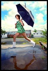 Walking on sunshine... (kingpinphoto) Tags: chelsea beautifulwoman shorthair sexylady funtimes 2010 joeldidriksen kingpinphotocom hellatuffcom rainydayphotoshoot mimosasandstrobes