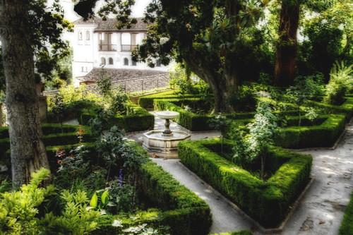 Generalife gardens. Granada. Jardines del generalife.