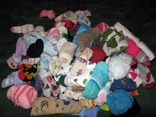 a pile of socks