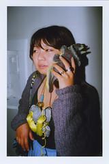 Minie Calls The Past (J. Astra Brinkmann) Tags: sanfrancisco film 35mm canon iso100 necklace phone kodak ae1 indoors canonae1 calling myapartment triceratops wideanglelens answering kodakektar mayandjune thatsmyfuckingdinophone