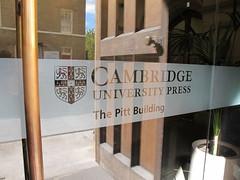 Cambridge University sign