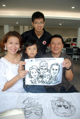 Caricature live sketching for Performance Premium Selection BMW - Day 3 - 17