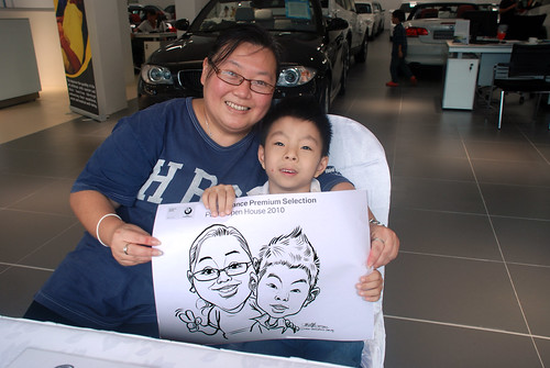 Caricature live sketching for Performance Premium Selection BMW - Day 4 - 10