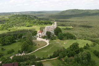 Castle of Bobolice during the reconstruction