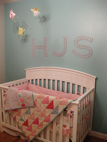 Sweet baby Harper's nursery