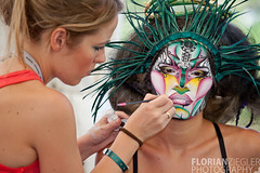 Painters At Work - Bodypainting (florianziegler) Tags: colors beautiful austria sterreich model colorful paint artist body krnten brush painter bodypainting sponge farbe bunt airbrush farben knstler krper krperbemalung seeboden worldbodypaintingfestival bodypaintingfestival2010
