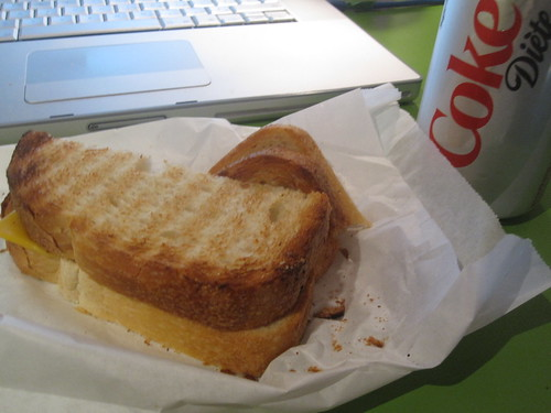 cheese toasts, Diet Coke - $3.75