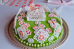 (kulinarno) Tags: flowers cake butterfly decoration  royalicing