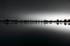 Albert Park Lake at dusk (kth517) Tags: reflections dusk australia melbourne victoria albertpark 澳洲 墨爾本 albertparklake 黃昏 melbournef1