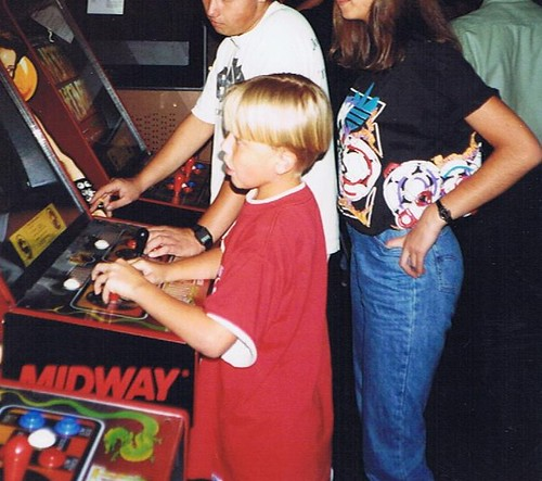 When I was young, schooling the older kids at the arcade
