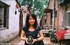 the city (Twiggy Tu) Tags: china street trip travel film me beijing twiggy 2010 contaxrx memycamera photobybrad carlzeissdistagont35mmf28 ilikedyou