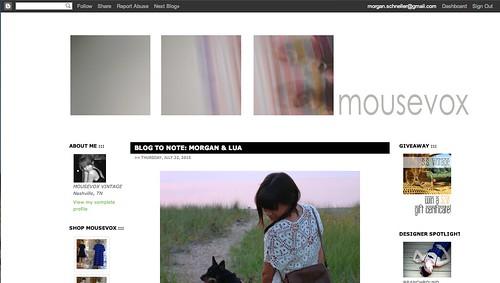 Blog to Note: Morgan & Lua