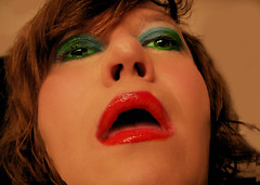 "my ""i want u"" or ""i like what i feel"" look... (CutieKelli) Tags: lips mouth red lipstick greeneyes green eyes sexy cute hot girly f"