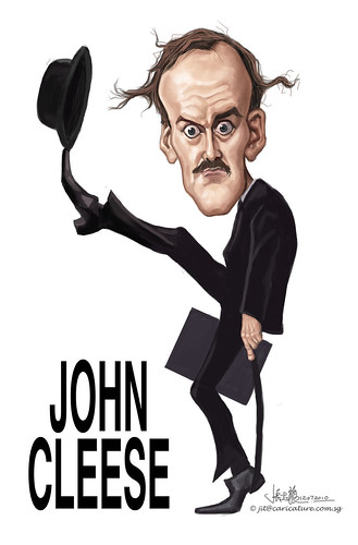 digital caricature of John Cleese