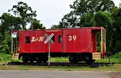 Evergreen, AL - The Old L&N Depot & Caboose (RuralSWAlabama) Tags: old railroad tourism rural alabama historic caboose evergreen attractions blackbelt ln thingstosee placestosee conecuh