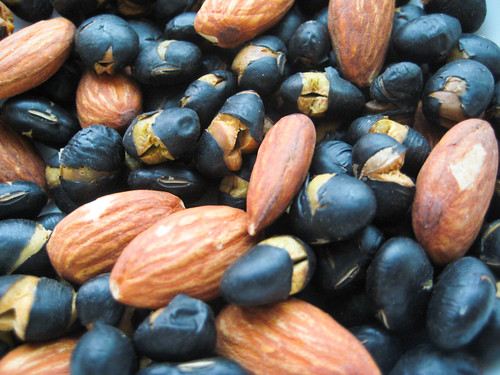 roasted black beans & almonds