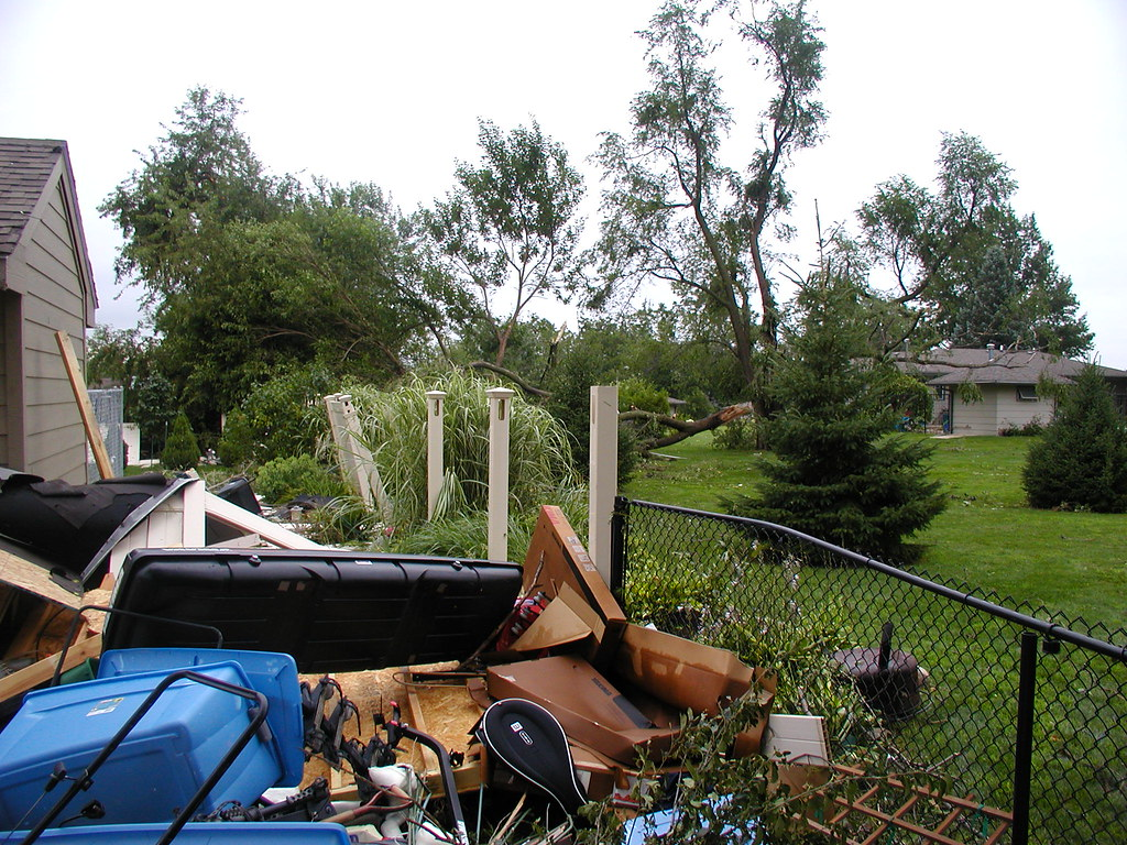 "Pile of ""stuff"" in the backyard"
