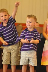 My sons in a church program last year